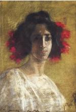 Antonio Mancini (attribuito a), Figura femminile