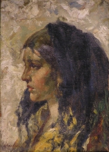Antonio Mancini (attribuito a), Ritratto di donna