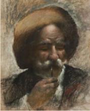 Mancini (attribuito a), Ritratto di un contadino con la pipa.png
