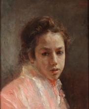 Mancini, Bambina con scialle rosa