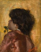 Mancini, Bambino con la rosa in bocca.png