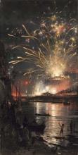 Mancini, Fuochi d'artificio a Castel Sant'Angelo.jpg