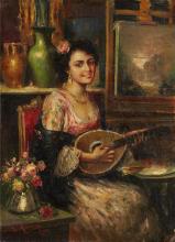 Mancini, Giovane musicista nello studio del pittore.png