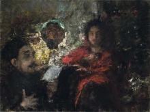 Antonio Mancini, Lettura alla luce artificiale