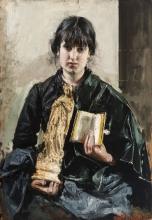Mancini, Ragazza con libro e statuetta.jpg