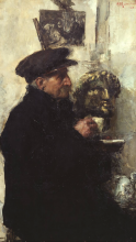 Mancini, Ritratto del padre   Portrait of the artist's father