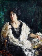 Antonio Mancini, Ritratto della signora Ines Pesaro