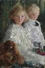 Mancini, Ritratto di Elizabeth e Charles Hedworth Williamson con cane | Portrait of Elizabeth and Charles Hedworth Williamson with dog