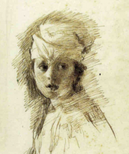 Mancini, Ritratto di adolescente [dettaglio]