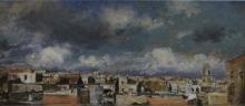 Mancini, Veduta di tetti di Napoli.jpg