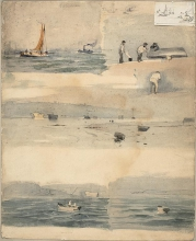 Manet (attribuito a), Schizzi di scene marine.jpg