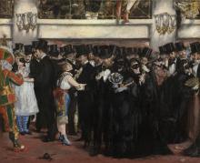 Manet, Ballo in maschera all'Opera   Bal masqué à l'Opéra   Masked ball at the Opera