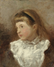 Manet, Bambina in abito con carre bianco.jpg