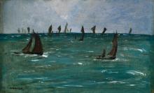 Manet, Barche a Berck sur mer | Bateaux à Berck-sur-Mer | Boats at Berck-sur-Mer