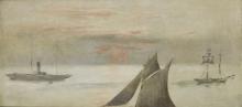 Manet, Barche in mare, tramonto.jpg