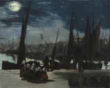 Manet, Chiaro di luna sul porto di Boulogne | Clair de lune sur le port de Boulogne