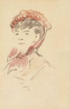 Manet, Donna con cappello rosso.jpg