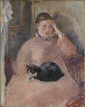 Manet, Donna con un gatto.jpg