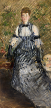 Manet, Donna in abito a righe   Femme en robe rayée   Woman in striped dress