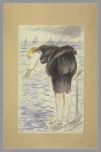 Manet, Donna in costume da bagno nero che si appresta a tuffarsi.jpg