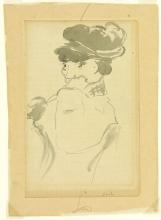Manet, Donna seduta con cappello floscio | Femme assise en chapeau mou | Seated woman wearing a soft hat