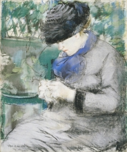 Manet, Donna seduta in giardino.jpg