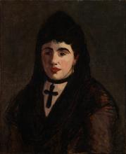 Manet, Donna spagnola che indossa una croce nera.jpg