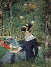 Manet, Fanciulla in un giardino.jpg