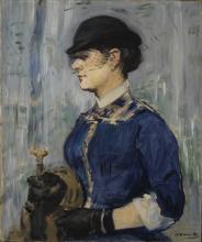 Manet, Giovane donna con cappello rotondo.png