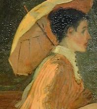 Manet, In barca presso Rueil [dettaglio 1].jpg