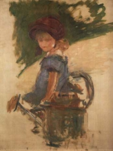 Manet, Julie Manet seduta sull'annaffiatoio.jpg