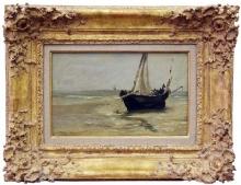 Manet, La barca nera a Berck [cornice].jpg