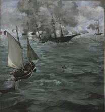 Manet, La battaglia tra la «Kearsarge» e la «Alabama» | La bataille de la U.S.S. «Kearsarge» et le C.S.S. «Alabama» | The battle of the U.S.S. «Kearsarge» and the C.S.S. «Alabama»