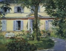 Édouard Manet, La casa a Rueil | La maison à Rueil | Landhaus in Rueil