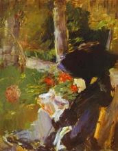 Manet, La madre di Manet in giardino a Bellevue.jpg