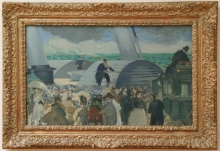Manet, La partenza del vaporetto di Folkestone [cornice].jpg