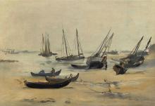 Édouard Manet, La spiaggia con la bassa marea | La plage à marée basse