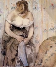 Manet, La toilette. La donna con la giarrettiera   La toilette. La femme à la jarretière   The toilet. The woman with the garter