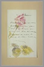 Manet, Lettera a Isabelle Lemonnier [Una rosa in boccio].jpg