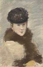 Manet, Mery Laurent che indossa un piccolo toque.jpg