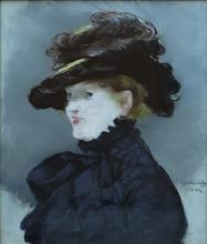 Édouard Manet, Mery Laurent con cappello nero | Méry Laurent au chapeau noir | Méry Laurent with black hat