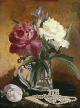 Manet, Natura morta con fiori, ventaglio e perle.jpg