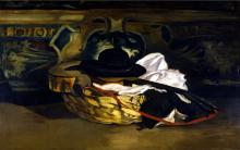 Manet, Natura morta. Chitarra e cappello.png
