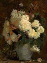 Manet, Peonie bianche e altri fiori in un vaso grigio-azzurro.jpg