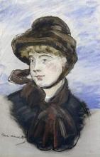Manet, Ragazza con cappello marrone.jpg