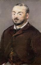 Manet, Ritratto del compositore Emmanuel Chabrier | Portrait du compositeur Emmanuel Chabrier | Portrait of the composer Emmanuel Chabrier