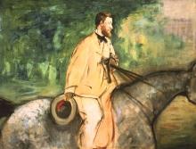 Manet, Ritratto del pittore Émile Guillaudin a cavallo | Portrait du peintre Émile Guillaudin à cheval