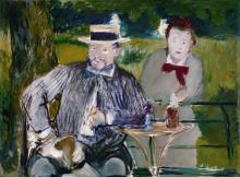 Manet, Ritratto di Ernest Hoschede   Portrait d'Ernest Hoschedé et sa fille Marthe   Portrait of Mr. Hoschedé and his daughter Marthe   Retrato del Señor Hoschedé y su hija Marthe