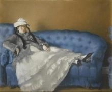 Manet, Ritratto di Madame Edouard Manet su un divano azzurro.jpg