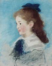 Manet, Ritratto di Mademoiselle Hecht, di profilo | Portrait de Mademoiselle Hecht, de profil